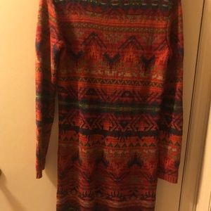 Colorful knit dress